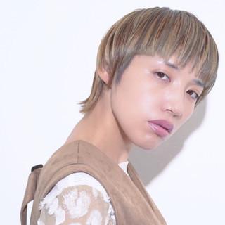 ハイトーンカラー かっこいい モード マニッシュ ヘアスタイルや髪型の写真・画像