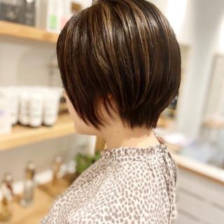 ハイライト ハンサムショート アンニュイ ストリート ヘアスタイルや髪型の写真・画像