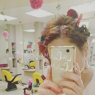 夜会巻 和装 和服 ヘアアレンジ ヘアスタイルや髪型の写真・画像 ヘアスタイルや髪型の写真・画像