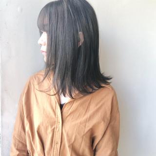 暗髪 ナチュラル ツヤ髪 透明感 ヘアスタイルや髪型の写真・画像