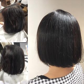 髪質改善トリートメント ミニボブ ボブ モード ヘアスタイルや髪型の写真・画像