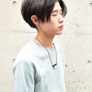 メンズ ストリート ショート 黒髪 ヘアスタイルや髪型の写真・画像