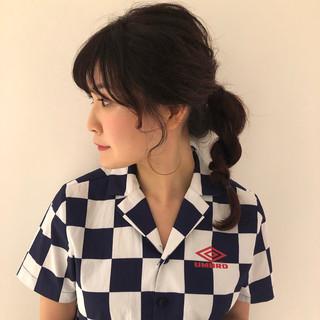 フェミニン 簡単ヘアアレンジ デート オフィス ヘアスタイルや髪型の写真・画像