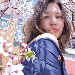 外国人風カラー ハイライト フェミニン グラデーションカラー ヘアスタイルや髪型の写真・画像