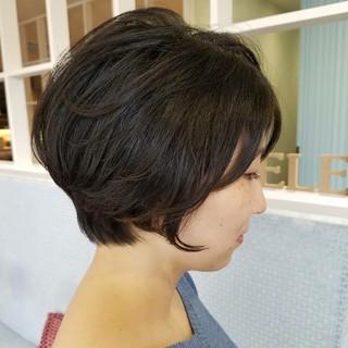 ボブ かっこいい ショート 美シルエット ヘアスタイルや髪型の写真・画像 ヘアスタイルや髪型の写真・画像