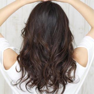 デジタルパーマ 大人かわいい ロング エレガント ヘアスタイルや髪型の写真・画像