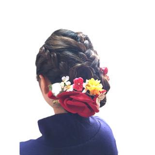 和装ヘア 和装髪型 エレガント 成人式 ヘアスタイルや髪型の写真・画像