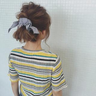 簡単ヘアアレンジ ロング ヘアアクセ ショート ヘアスタイルや髪型の写真・画像