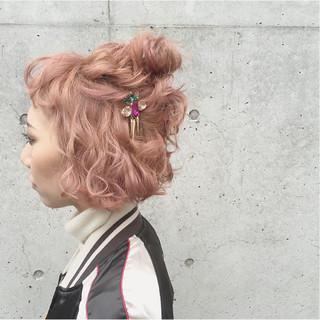 ヘアアレンジ ガーリー 大人かわいい ナチュラル ヘアスタイルや髪型の写真・画像