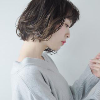 ゆるふわ くせ毛風 ボブ 簡単 ヘアスタイルや髪型の写真・画像 ヘアスタイルや髪型の写真・画像