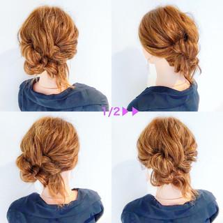 簡単ヘアアレンジ オフィス ロング アウトドア ヘアスタイルや髪型の写真・画像