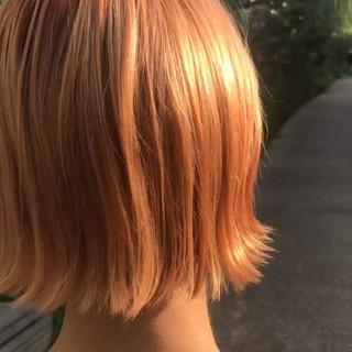 ラフ 外ハネ ストリート オレンジ ヘアスタイルや髪型の写真・画像