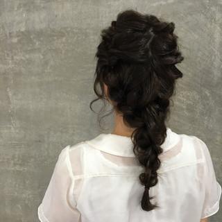 くせ毛風 簡単ヘアアレンジ ハイライト ヘアアレンジ ヘアスタイルや髪型の写真・画像