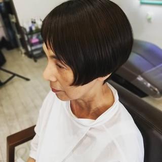 ショート モード ショートボブ ヘアスタイルや髪型の写真・画像