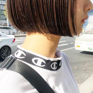 フェミニン 前髪あり ボブ 抜け感 ヘアスタイルや髪型の写真・画像