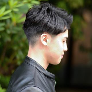 メンズショート メンズ ショート 黒髪 ヘアスタイルや髪型の写真・画像