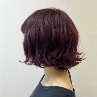 ストリート バイオレットカラー 透明感 ピンクバイオレット ヘアスタイルや髪型の写真・画像