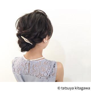結婚式 外国人風 二次会 エレガント ヘアスタイルや髪型の写真・画像