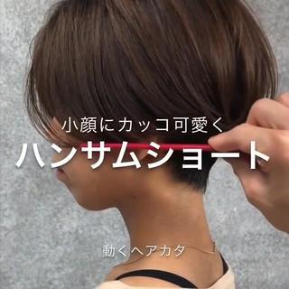 大人ショート ナチュラル アンニュイほつれヘア ショートボブ ヘアスタイルや髪型の写真・画像