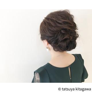 結婚式 セミロング ヘアアレンジ ゆるふわ ヘアスタイルや髪型の写真・画像 ヘアスタイルや髪型の写真・画像