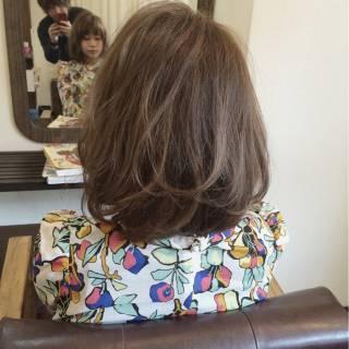 ナチュラル ボブ ミディアム 春 ヘアスタイルや髪型の写真・画像