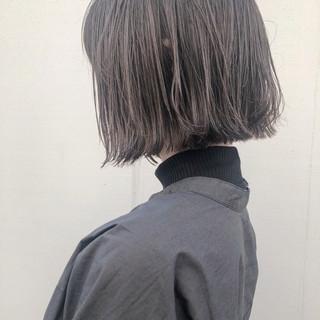 ボブ 透明感カラー ニュアンスヘア ナチュラル ヘアスタイルや髪型の写真・画像