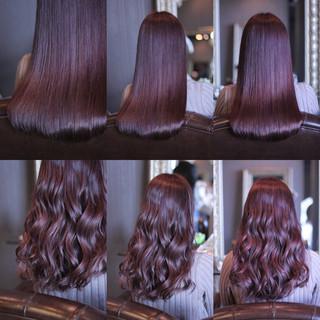 愛され セミロング ピンク モテ髪 ヘアスタイルや髪型の写真・画像