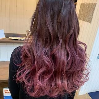 ナチュラル ピンクアッシュ 透明感カラー ハイライト ヘアスタイルや髪型の写真・画像