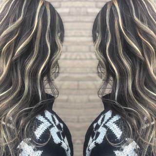 ストリート 3Dハイライト ミディアム 外国人風カラー ヘアスタイルや髪型の写真・画像