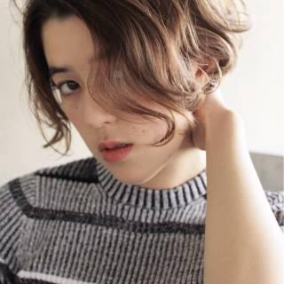 抜け感 ボブ 外国人風 束感 ヘアスタイルや髪型の写真・画像