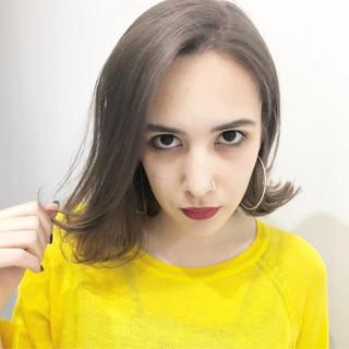 ボブ アッシュ グレージュ 外国人風カラー ヘアスタイルや髪型の写真・画像