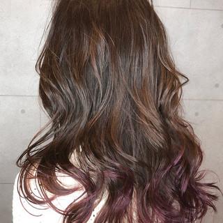 フェミニン グラデーションカラー グレージュ ハイライト ヘアスタイルや髪型の写真・画像 ヘアスタイルや髪型の写真・画像