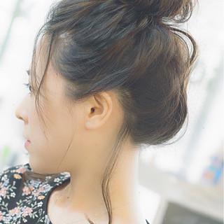 アンニュイ ナチュラル お団子 ヘアアレンジ ヘアスタイルや髪型の写真・画像 ヘアスタイルや髪型の写真・画像
