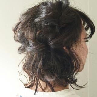 ナチュラル ボブ 簡単ヘアアレンジ デート ヘアスタイルや髪型の写真・画像 ヘアスタイルや髪型の写真・画像