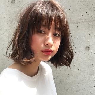 ウェーブ ミディアム ニュアンス 女子会 ヘアスタイルや髪型の写真・画像