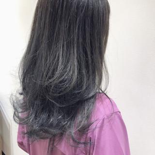 ナチュラル ブルーアッシュ ブルー ネイビーブルー ヘアスタイルや髪型の写真・画像
