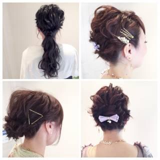 アップスタイル ショート ナチュラル ルーズ ヘアスタイルや髪型の写真・画像 ヘアスタイルや髪型の写真・画像