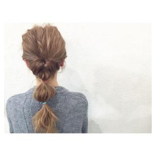 簡単ヘアアレンジ ロング 大人かわいい 夏 ヘアスタイルや髪型の写真・画像