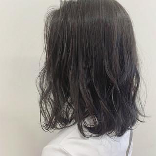 ミディアム アディクシーカラー おしゃれ 透明感カラー ヘアスタイルや髪型の写真・画像