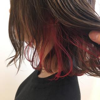 大人かわいい レイヤーカット フェミニン ボブ ヘアスタイルや髪型の写真・画像