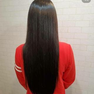 エレガント ピンクバイオレット ロング 艶髪 ヘアスタイルや髪型の写真・画像