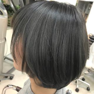暗髪 ボブ イルミナカラー ストリート ヘアスタイルや髪型の写真・画像