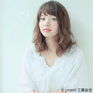 夏 春 モテ髪 ミディアム ヘアスタイルや髪型の写真・画像