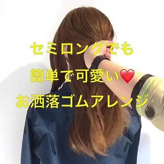 パーティ 簡単ヘアアレンジ フェミニン ヘアアレンジ ヘアスタイルや髪型の写真・画像 ヘアスタイルや髪型の写真・画像