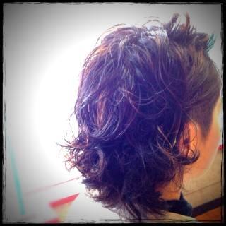 刈り上げ パーマ アッシュ ストリート ヘアスタイルや髪型の写真・画像