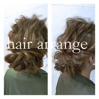 波ウェーブ ブルージュ ヘアアレンジ マット ヘアスタイルや髪型の写真・画像