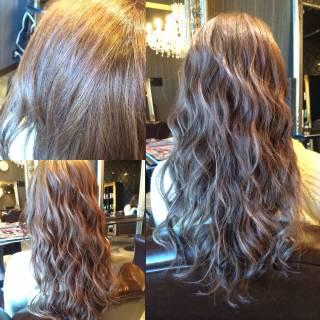 外国人風 黒髪 モード アッシュ ヘアスタイルや髪型の写真・画像