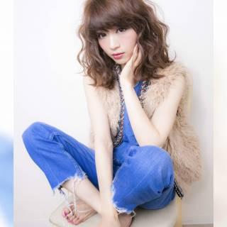 ヘアアレンジ フェミニン ゆるふわ ミディアム ヘアスタイルや髪型の写真・画像 ヘアスタイルや髪型の写真・画像