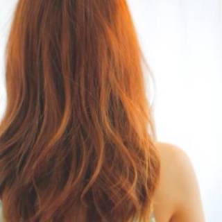 ピンク ナチュラル レッド モテ髪 ヘアスタイルや髪型の写真・画像