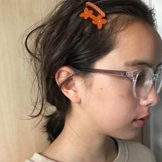 アンニュイほつれヘア ヘアアレンジ 簡単ヘアアレンジ ミディアム ヘアスタイルや髪型の写真・画像